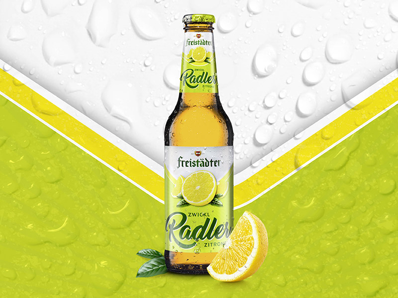 Freistädter Bier - Radler Packaging Design