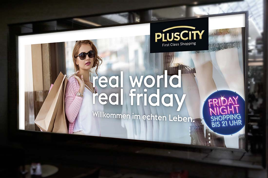 PlusCity Kampagne 2019 - real world real friday